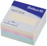 Notite adezive culori mixte 76  mm x 76 mm 400 file/cub Pelikan