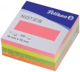 Notite adezive culori neon 76 mm  x 76 mm 320 file/cub Pelikan