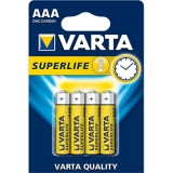 Baterii zinc carbon R3 (AAA) 4 bucati/set Superlife Varta