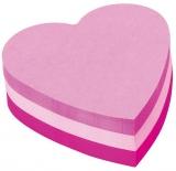 Notite adezive inima cub Post-It Fun Notes  70 mm x 70 mm 225 file/bloc 3M