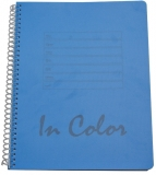 Caiet cu spirala A5 80 foi/80 gr dictando coperta albastru