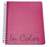 Caiet cu spirala A5 80 foi/80 gr dictando coperta roz