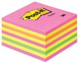 Notite adezive roz-galben cub Post-It 76 mm x 76 mm 450 file/cub 3M