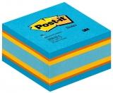 Notite adezive culori vii echilibrate cub Post-It 76 mm x 76 mm 450 file/cub 3M