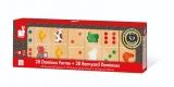 Joc de domino din lemn 28 piese - Janod (J08167)