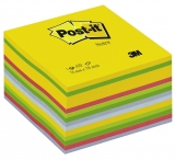 Notite adezive culori mixte cub Post-It 76 mm x 76 mm 450 file/cub 3M