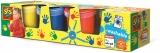 Set de patru culori pentru pictura cu degete 4x150ml SES