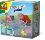 Set pictura pe asflat 4 culori + pensula - SES (S02201)