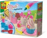 Set briose ( Culoare nisip roz, 7 accesorii de plastic, decoratii din spuma ) - SES (S02213)