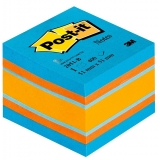 Notite adezive culori echilibrate minicub Post-It 51 x 51 mm 3M