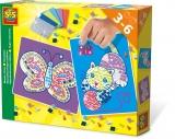 Set creativ mozaic cu spuma ( Pisica si fluture ) - SES (S14813)