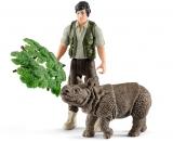 Figurina Schleich Ranger si Rinocer