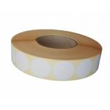 Etichete rotunde 17 mm albe 6330 bucati/rola