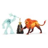 Batalia pentru arma suprema - Monstrul de gheata vs Leul de foc