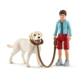 Schleich Plimbare cu Labrador Retreiver
