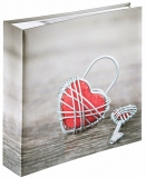 Album foto Rustico Metal Heart 200 poze, 10 x 15 cm, Gri Hama