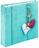 Album foto Rustico Love Key 200 poze, 10 x 15 cm, Albastru Hama