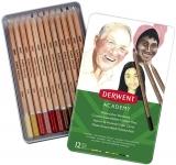 Set 12 creioane acurela tonurile pielli, Derwent Academy