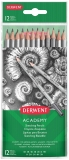 Set 12 creioane Grafit 5H-6B, blister Derwent Academy