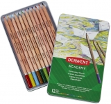 Set 12 creioane acurela colorate, Derwent Academy