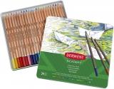Set 24 creioane acurela tonurile pielli, Derwent Academy