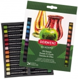 Set 24 creioane ulei pastel Derwent Academy