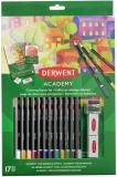 Set 12 creioane colorate, calitate superioara, pentru artisti aspiranti, Derwent Academy