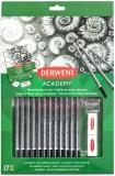 Set 12 creioane Grafit, calitate superioara 6B-5H, pentru artisti aspiranti, Derwent Academy