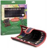 Set penar cu 12 Creioane colorate, calitate superioara pentru artisti aspiranti, contine si ascutitoare si guma sters Derwent Academy