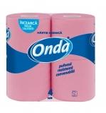 Hartie igienica roz 2 straturi 4 role/set Onda