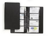 Clasor pentru 96 carti de vizita Visifix Economy negru Durable