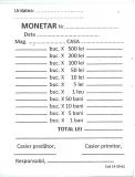 Monetar A6 2 exemplare 100 file
