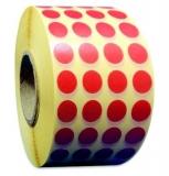 Etichete rotunde 10 mm rosii 13480 bucati/rola