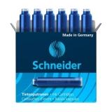 Patroane stilou 6/set albastru Schneider