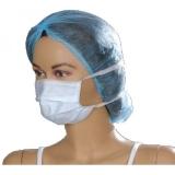 Masca chirurgicala alba cu elastic 50 buc/set