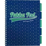 Caiet cu spira si separatoare A4, 100 file, dictando, Glee Pukka Pads