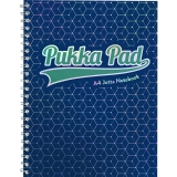 Caiet cu spirala A4, dictando, 100 file, Glee albastru inchis Pukka Pads