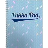 Caiet cu spirala A4, dictando, 100 file, Glee albastru deschis Pukka Pads