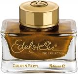 Cerneala premium Edelstein in calimara, 50ml, culoare auriu stralucitor Golden Beryl, editie limitata 2021, Pelikan