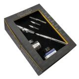 Set caligrafie World Pen negru cu convertor si 2 calimari in cutie cadou Online Germany