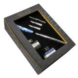 Set caligrafie World Pen albastru cu convertor si 2 calimari in cutie cadou Online Germany