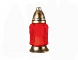 Candela sticla 308CS2954 rosie ardere 16 ore, 16 buc/bax