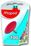 Pioneze in diverse culori, 100 buc/set, Maped