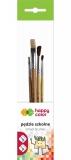 Pensula set 4 bucati/set, Mix B, Happy Color