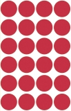 Etichete rotunde 14 mm rosii 630/set Markin