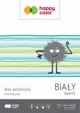 Bloc desen, alb, A4, 10 coli, 170gsm, Happy Color