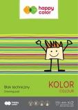 Bloc desen, color, A4, 10 coli, 170gsm, Happy Color