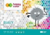 Bloc desen, alb, A4, 20 coli, 100gsm, Happy Color