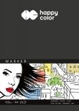 Bloc desen, pentru marker, A4, 100gsm, 25 coli, Happy Color