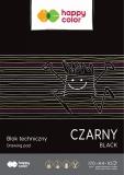 Bloc desen, negru, A4, 10 coli, 170gsm, Happy Color